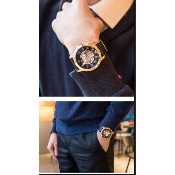 FOSSIL ME 3102 NAVY BLUE AUTOMATIC