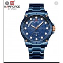Naviforce NF-9152 Blue Rosegold Stainless Steel