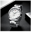 Naviforce NF-9152 Silver Rantai Stainless Steel
